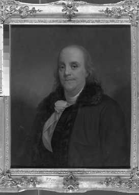 American. Benjamin Franklin, ca. early to mid-19th century. Oil on canvas, 29 15/16 x 25 1/16 in. (76 x 63.7 cm). Brooklyn Museum, Transferred from the Brooklyn Institute of Arts and Sciences to the Brooklyn Museum, 97.10