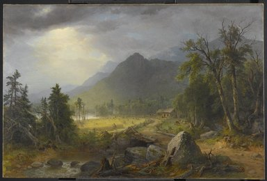 Asher B. Durand (American, 1796-1886). The First Harvest in the Wilderness, 1855. Oil on canvas, 31 5/8 x 48 1/16 in. (80.3 x 122 cm). Brooklyn Museum, Transferred from the Brooklyn Institute of Arts and Sciences to the Brooklyn Museum, 97.12