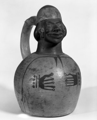 Moche. Vessel with Stirrup Spout. Clay, slip, height: 8 1/2 in. (21.59 cm); diameter: 5 in. (12.7 cm). Brooklyn Museum, Gift of Kate M. Bunker, 97.36.1. Creative Commons-BY