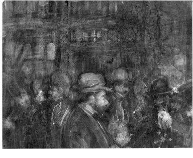 George Benjamin Luks (American, 1867-1933). Street Scene (Hester Street), 1905. Oil on canvas, 25 13/16 x 35 7/8 in. (65.5 x 91.1 cm). Brooklyn Museum, Dick S. Ramsay Fund, 40.339
