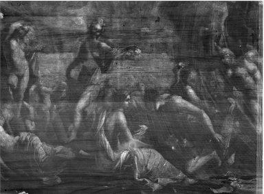 Mythological Scene. Oil on panel, 13 3/8 x 25 9/16 in.  (34.0 x 64.9 cm). Brooklyn Museum, Gift of Mary E. Clark, 46.134