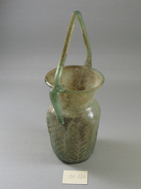 Brooklyn Museum: Jar of Molded Green Glass