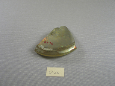 Brooklyn Museum: Fragment of Pale Green Glass