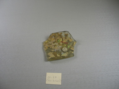 Roman. Fragment, 1st-5th century C.E. Glass, 1/2 x 3 3/8 in. (1.2 x 8.6 cm). Brooklyn Museum, Gift of Robert B. Woodward, 01.27. Creative Commons-BY