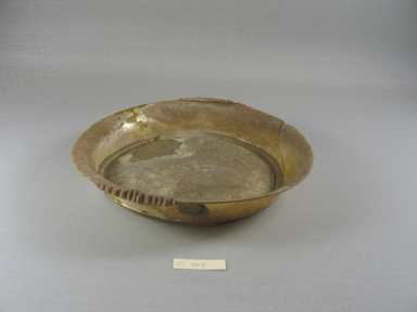 Brooklyn Museum: Shallow Dish of Amber Glass