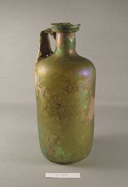 Brooklyn Museum: Tall, Cylindrical Bottle of Plain Blown Glass