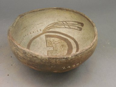 Ancient Pueblo (Anasazi) (Native American). Bowl, 900-1300. Clay, slip, 3 1/8 x 7 1/8 in.  (7.9 x 18.1 cm). Brooklyn Museum, Riggs Pueblo Pottery Fund, 02.257.2499. Creative Commons-BY