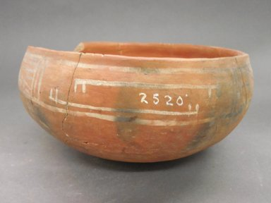 Ancient Pueblo (Anasazi) (Native American). Bowl. Clay, slip, 3 5/8 x 7 1/8 in. (9.2 x 18.1 cm). Brooklyn Museum, Riggs Pueblo Pottery Fund, 02.257.2520. Creative Commons-BY