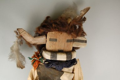 She-we-na (Zuni Pueblo) (Native American). Kachina Doll (Siatasha), late 19th century. Wood, leather, pigment, fabric, wool, feathers, string, 21 x 5 1/2 x 8 1/4 in. (53.3 x 14.0 x 21.0 cm). Brooklyn Museum, Museum Expedition 1903, Museum Collection Fund, 03.325.4630. Creative Commons-BY