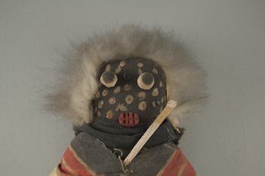 She-we-na (Zuni Pueblo) (Native American). Kachina Doll (Atashlaskja Okya), late 19th century. Wood, pigment, feather, cotton cloth, hide, 9 15/16 x 4 3/4 in. (25.2 x 12.1 cm). Brooklyn Museum, Museum Expedition 1903, Museum Collection Fund, 03.325.4635. Creative Commons-BY