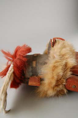 She-we-na (Zuni Pueblo) (Native American). Kachina Doll (Tam-lam Kushokta), late 19th century. Hide, cotton, pigment, fur, hair, yucca, wood, metal, wool, 19 x 6 x 4 3/4in. (48.3 x 15.2 x 12.1cm). Brooklyn Museum, Museum Expedition 1903, Museum Collection Fund, 03.325.4653. Creative Commons-BY