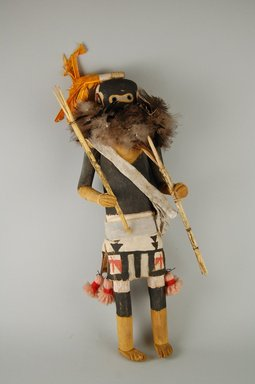She-we-na (Zuni Pueblo) (Native American). Kachina Doll (Salamopea Shekjana), late 19th century. Feathers, hide, cotton, woll yarn, fur, plant fiber, 12 x 4 3/4 x 3 1/2 in. (30.5 x 12.1 x 8.9 cm). Brooklyn Museum, Museum Expedition 1903, Museum Collection Fund, 03.325.4664. Creative Commons-BY