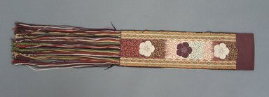 Embroidered Bengaline Panel. Silk, w/o fringe: 3 15/16 x 13 3/4 in. (10 x 35 cm). Brooklyn Museum, Gift of George C. Brackett, 03.331a. Creative Commons-BY