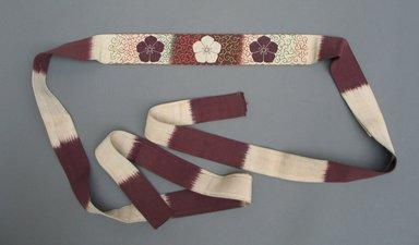 Belt. Silk, 1 3/4 x 78 3/4 in. (4.5 x 200 cm). Brooklyn Museum, Gift of George C. Brackett, 03.331b. Creative Commons-BY