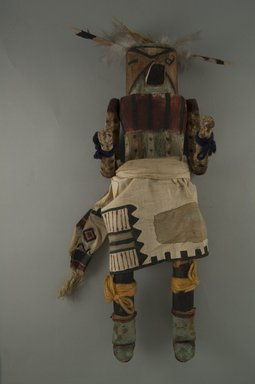 Mau-i (She-we-na (Zuni Pueblo), Native American). Kachina Doll (Atya), late 19th - early 20th century. Wood, feathers, hide Brooklyn Museum, Museum Expedition 1904, Museum Collection Fund, 04.297.5343. Creative Commons-BY