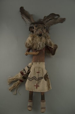 Mau-i (She-we-na (Zuni Pueblo), Native American). Kachina Doll (Zamalahaktoh), late 19th-early 20th century. Wood, fur, pigment, feathers, hide, 15 3/4 x 2 1/2 in. (40 x 6.4 cm). Brooklyn Museum, Museum Expedition 1904, Museum Collection Fund, 04.297.5364. Creative Commons-BY