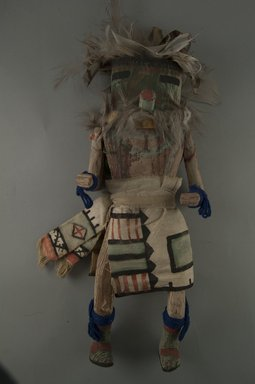 Mau-i (She-we-na (Zuni Pueblo), Native American). Kachina Doll (Chualuthla), late 19th-early 20th century. Wood, feathers, fur, yarn, cotton, (37.0 x 12.3 x 8.7 cm). Brooklyn Museum, Museum Expedition 1904, Museum Collection Fund, 04.297.5372. Creative Commons-BY