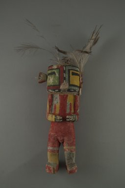 Hopi Pueblo (Native American). Kachina Doll (Torik Maalo), late 19th century. Wood, pigment, feathers, string, yarn, (6.7 x 5.1 x 16.7 cm). Brooklyn Museum, Museum Expedition 1904, Museum Collection Fund, 04.297.5526. Creative Commons-BY