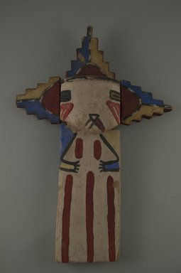 Hopi Pueblo (Native American). Kachina Doll (Shalako, Salako Mana?), late 19th century. Wood, paint, 4 13/16 x 1 5/8 x 10 3/4in. (12.3 x 4.1 x 27.3cm). Brooklyn Museum, Museum Expedition 1904, Museum Collection Fund, 04.297.5530. Creative Commons-BY
