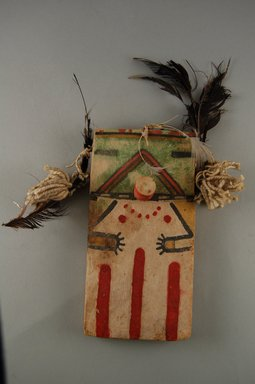 Hopi Pueblo (Native American). Kachina Doll (Koa), late 19th century. Wood, pigment, string, feathers, 3 3/4 x 1 7/8 x 7 1/2in. (9.6 x 4.7 x 19cm). Brooklyn Museum, Museum Expedition 1904, Museum Collection Fund, 04.297.5532. Creative Commons-BY
