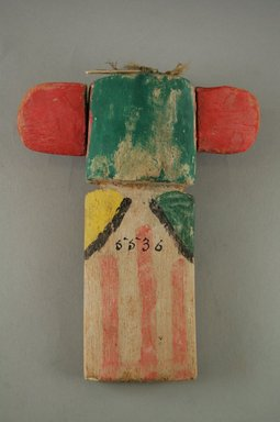 Hopi Pueblo (Native American). Kachina Doll, late 19th  century. Feathers, pigment, wood, string, (11.8 x 4.1 x 14.6 cm). Brooklyn Museum, Museum Expedition 1904, Museum Collection Fund, 04.297.5536. Creative Commons-BY