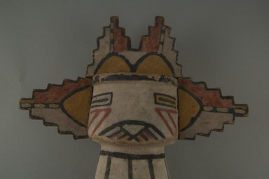 Hopi Pueblo (Native American). Kachina Doll (Sa'lakwmana), late 19th century. Wood, pigment, 9 x 7 1/2 x 3 1/2 in. (22.9 x 19.1 x 8.9 cm). Brooklyn Museum, Museum Expedition 1904, Museum Collection Fund, 04.297.5543. Creative Commons-BY