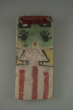Hopi Pueblo (Native American). Kachina Doll (Hon [Bear]), late 19th century. Wood, pigment, fiber, feathers, string, (8.5 x 2.2 x 19 cm). Brooklyn Museum, Museum Expedition 1904, Museum Collection Fund, 04.297.5545. Creative Commons-BY