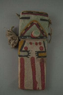 Hopi Pueblo (Native American). Kachina Doll (Payatimu or Ana), late 19th century. Wood, pigment, feather, 7 7/16 x 2 1/4 x 1 9/16 in. (18.9 x 5.7 x 4 cm). Brooklyn Museum, Museum Expedition 1904, Museum Collection Fund, 04.297.5547. Creative Commons-BY
