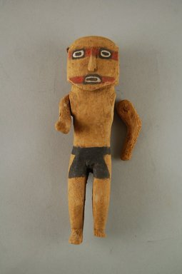 Hopi Pueblo (Native American). Kachina Doll, late 19th century. Wood, paint, 5 3/4 x 1 1/2 in. (3.8 x 5.8 x 14.7 cm). Brooklyn Museum, Museum Expedition 1904, Museum Collection Fund, 04.297.5552. Creative Commons-BY