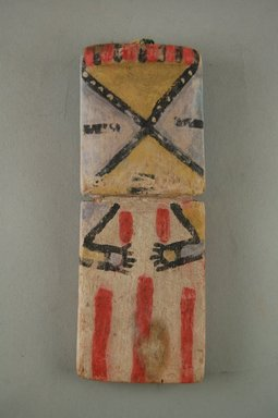 Hopi Pueblo (Native American). Kachina Doll, late 19th century. Wood, pigment, 5 7/8 x 2 3/8 x 1/2 in. (14.9 x 6 x 1.3 cm). Brooklyn Museum, Museum Expedition 1904, Museum Collection Fund, 04.297.5557. Creative Commons-BY