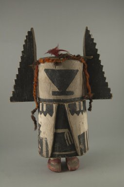 Hopi Pueblo (Native American). Kachina Doll (Hahaii), late 19th century. Wood, feather, fiber, 11 13/16 in. (30 cm). Brooklyn Museum, Museum Expedition 1904, Museum Collection Fund, 04.297.5563. Creative Commons-BY