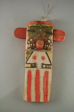 Hopi Pueblo (Native American). Kachina Doll, late 19th century. Pigment, wood, feather, string, (14.1 x 6.4 x 21.6 cm). Brooklyn Museum, Museum Expedition 1904, Museum Collection Fund, 04.297.5564. Creative Commons-BY