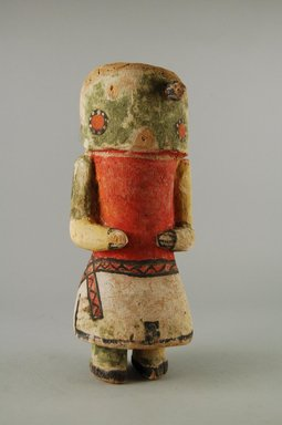 Hopi Pueblo (Native American). Kachina Doll (Yoono [Cactus]), late 19th century. Wood, pigment, 3 3/8 x 2 13/16 x 8 1/8in. (8.5 x 7.2 x 20.6cm). Brooklyn Museum, Museum Expedition 1904, Museum Collection Fund, 04.297.5567. Creative Commons-BY
