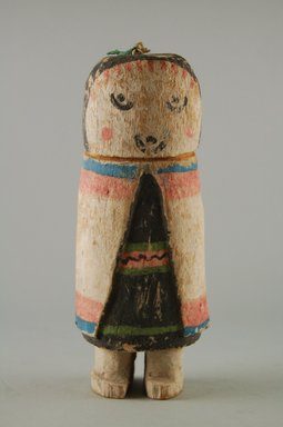Hopi Pueblo (Native American). Kachina Doll (Seo [Zuni] Ana), late 19th century. Wood, pigment, 7 x 2 3/4 x 2 1/2 in. (17.8 x 7 x 6.4 cm). Brooklyn Museum, Museum Expedition 1904, Museum Collection Fund, 04.297.5570. Creative Commons-BY