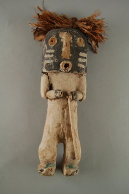 Hopi Pueblo (Native American). Kachina  Doll (Kwikwilyaka, Lapukti), late 19th century. Wood, pigment, string, plant fiber, 8 x 2 in. (20.3 x 5.1 cm). Brooklyn Museum, Museum Expedition 1904, Museum Collection Fund, 04.297.5573. Creative Commons-BY