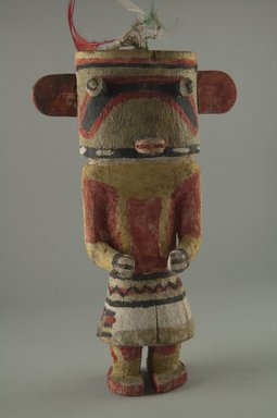 Hopi Pueblo (Native American). Kachina Doll (Holi), late 19th century. Wood, pigment, feathers, string, 5 1/4 x 2 1/2 x 8 11/16in. (13.4 x 6.4 x 22cm). Brooklyn Museum, Museum Expedition 1904, Museum Collection Fund, 04.297.5574. Creative Commons-BY