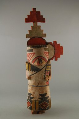 Hopi Pueblo (Native American). Kachina Doll, late 19th century. Wood, pigment, 5 1/16 x 2 13/16 x 14 3/8in. (12.8 x 7.2 x 36.5cm). Brooklyn Museum, Museum Expedition 1904, Museum Collection Fund, 04.297.5580. Creative Commons-BY