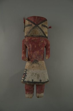 Hopi Pueblo (Native American). Kachina Doll, late 19th century. Wood, pigment, string, hair, nail, 3 13/16 x 3 1/8 x 10 7/16in. (9.7 x 8 x 26.5cm). Brooklyn Museum, Museum Expedition 1904, Museum Collection Fund, 04.297.5581. Creative Commons-BY