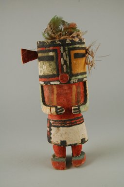 Hopi Pueblo (Native American). Kachina Doll (Maola), late 19th century. Wood, pigment, feathers, string, 3 3/4 x 2 3/4 x 7 5/8in. (9.5 x 7 x 19.4cm). Brooklyn Museum, Museum Expedition 1904, Museum Collection Fund, 04.297.5582. Creative Commons-BY