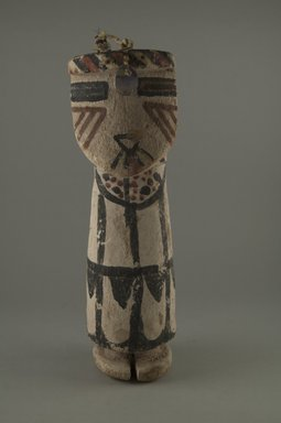 Hopi Pueblo (Native American). Kachina Doll (Shalako Nalena Mana), late 19th century. Wood, pigment, horsehair, shell, string, 9 13/16 in. (25 cm). Brooklyn Museum, Museum Expedition 1904, Museum Collection Fund, 04.297.5585. Creative Commons-BY