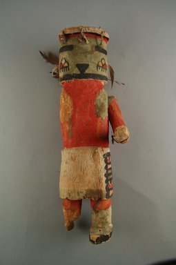 Hopi Pueblo (Native American). Kachina Doll (Alosaka?), late 19th century. Wood, pigment, feathers, string, 3 15/16 x 3 11/16 x 11 7/8in. (10 x 9.3 x 30.2cm). Brooklyn Museum, Museum Expedition 1904, Museum Collection Fund, 04.297.5590. Creative Commons-BY