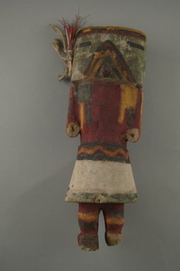 Hopi Pueblo (Native American). Kachina Doll (Koa), late 19th century. Wood, pigment, string, feathers, 2 7/8 x 2 7/16 x 7 15/16in. (7.3 x 6.2 x 20.2cm). Brooklyn Museum, Museum Expedition 1904, Museum Collection Fund, 04.297.5591. Creative Commons-BY