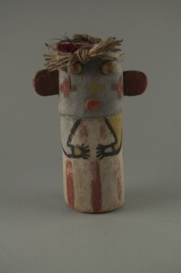 Hopi Pueblo (Native American). Kachina Doll, late 19th century. Wood, pigment, yarn, plant fiber, 4 x 2 11/16 x 5 13/16in. (10.2 x 6.9 x 14.8cm). Brooklyn Museum, Museum Expedition 1904, Museum Collection Fund, 04.297.5593. Creative Commons-BY