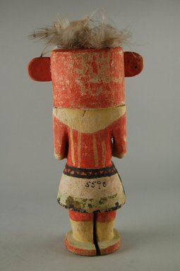 Hopi Pueblo (Native American). Kachina Doll, late 19th century. Feathers, wood, pigment, 4 11/16 x 3 9/16 x 8 11/16in. (11.9 x 9 x 22cm). Brooklyn Museum, Museum Expedition 1904, Museum Collection Fund, 04.297.5598. Creative Commons-BY