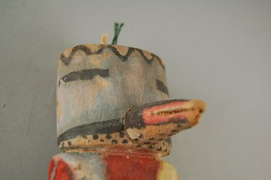 Hopi Pueblo (Native American). Kachina Doll (Alosaka?), late 19th century. Wood, pigment, string, 2 5/16 x 1 15/16 x 8 1/8in. (5.8 x 5 x 20.6cm). Brooklyn Museum, Museum Expedition 1904, Museum Collection Fund, 04.297.5606. Creative Commons-BY