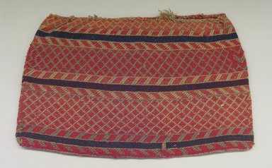 Hochunk (Native American). Woven Bags, mid 19th century. Cotton, wool, vegetal fiber, 35 x 54 cm. Brooklyn Museum, Museum Expedition 1904, Museum Collection Fund, 04.297.6957. Creative Commons-BY