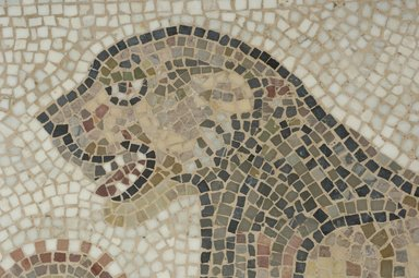 Roman. Mosaic of Lion, 6th century C.E. Stone and mortar, 1 5/8 x 42 1/4 x 29 5/16 in. (4.1 x 107.3 x 74.5 cm). Brooklyn Museum, Museum Collection Fund, 05.18. Creative Commons-BY