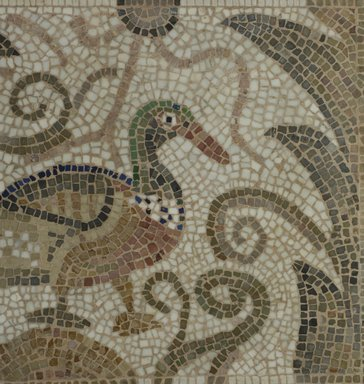 Roman. Mosaic of Duck Facing Right, 6th century C.E. Stone and mortar, 1 3/4 x 33 3/8 x 21 7/8 in. (4.4 x 84.8 x 55.6 cm). Brooklyn Museum, Museum Collection Fund, 05.19. Creative Commons-BY