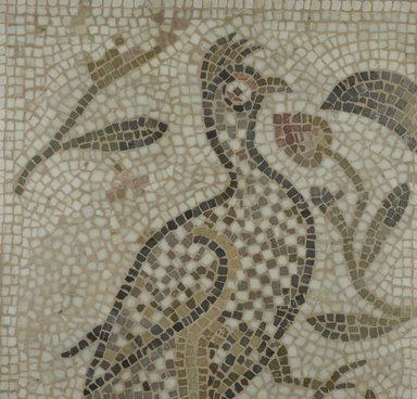 Brooklyn Museum: Mosaic of a Bird in a Vine