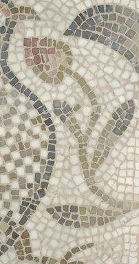 Roman. Mosaic of a Bird in a Vine, 6th century C.E. Stone and mortar, 1 3/4 x 21 5/8 x 28 1/16 in. (4.4 x 55 x 71.3 cm). Brooklyn Museum, Museum Collection Fund, 05.34. Creative Commons-BY